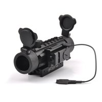 Wholesale Shotgun Laser Mounts - Tactical Green Red Dot Scope 1X30 Optic Scope Sight with Red Dot Laser Sight of 20mm Mount for Airsoft Rifle Shotguns