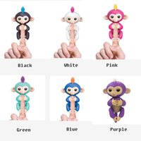 Wholesale Best Abs - Fingerlings - Interactive Baby Monkey Finger Toys Monkey Electronic Smart Fingers Monkey ABS+PVC 130mm YYA503 best Christmas Toy
