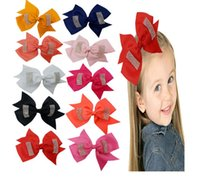 Wholesale Bow Tie Pin - Baby hair pin baby's 14cm bow hair clip with a tail bow tie baby headdress