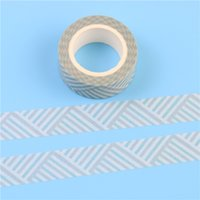 Wholesale Green Masking Paper - Wholesale- 2016 1 Pc   Pack Lovely Self-adhesive Japanese Paper Tape, Green Strip Paper Tape 15mm X 10m Diy Masking Tape