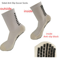 Wholesale Swimming Slip - Anti Slip Soccer Socks Cotton Cycling Football Men Sport Socks Calcetines The Same Type As The Trusox Double-Sided Non-Slip