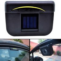 Wholesale Auto Power Windows - ABS Solar Powered Car Window Windshield Auto Air Vent Cooling Fan System Cooler Auto air convection