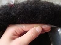 ingrosso capelli ricci di capelli vergini-Lumeng parrucche capelli umani vergini brasiliani ricci crespi afro ricci pizzo francese con rimpiazzo trasparente pelle pu in magazzino