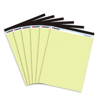 Wholesale French yellow grid writing pad A4 Memo Pad sheets Belt tearing line Legal pad paper Office Supplies Notepad memo pads