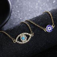 Wholesale Pcs Evil Eye - Fashion jewelry 2 pcs hamsa fatima hand evil eye lucky charm love bracelet for women best friend ethnic eye bracelets handmade accessories