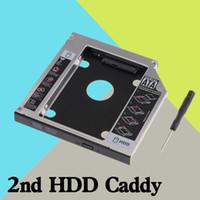 ssd dizüstü bilgisayar sabit diskleri toptan satış-Toptan-9.5mm Evrensel Seri ATA 2nd HDD SSD sabit disk sürücüsü caddy bay adaptörü Için Lenovo IdeaPad Z500 Z500t Z510 Z510t serisi dizüstü