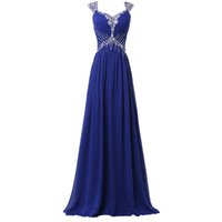 Wholesale black special occasion dresses plus size online - Royal Blue Evening Gowns Long Chiffon Evening Dresses Sequins Dress Prom Formal Guest Long Party Plus Size Special Occasion Dresses