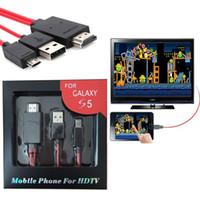 galaxy note2 achat en gros de-Micro USB HDMI Câble Adaptateur Pour HDTV pour Samsung Galaxy S5 S4 S3 Note2 Note3 Galaxy Tab 3 S Pro