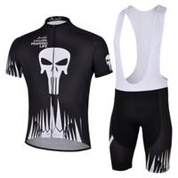 Wholesale Ghost Cycling Jersey - ghost black team 2018 cycling jersey set kit short sleeve cycling clothing mtb bike short jersey set summer style bike wear sportswear 19