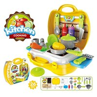 Wholesale Kitchen set carry box toy set