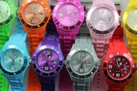 Wholesale Soft Calendar Watches - 50pcs 13 Colors New Soft Silicone Strap Date Calendar Watch Unisex Candy Jelly Quartz Watches 43MM