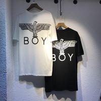 Wholesale Shirt Men Free - Men's T-Shirts Fashion 2017 newest Brand Boy London Behind the big eagle Men T-shirt Male Hip Hop Rock Streetwear White Black Free shipping