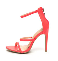 Wholesale Neon Coral Dresses - Zandina Women's Handmade Fashion Shoes Cut-out Slingback Open-toe Sexy Summer 10cm High Heel Party Prom Sandals neon coral