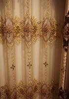 Wholesale Decorative Window Door Curtain - European Style Living Room Curtain Fashion Design Embroider Window Shades Romantic Decorative Drapes Customized Available Wholesale #Gauze
