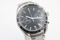 Wholesale Ocean Dive Watches - top brand watch men sports chronograph quartz movement Professional watches planet ocean watches men dive wristwatches free shipping