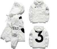 Wholesale Double Jacket Coat - YEEZUS Jacket Men KANYE WEST Hip Hop Windbreaker MA1 Pilot Mens Jackets Tour Baseball Supremo Jaqueta Masculina Season 3 Double Layer Coat