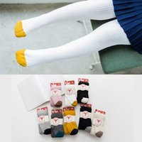 Wholesale fox shipping for sale - Group buy Baby Leggings Stripe Fox Children Boys Girls Elastic Cotton Soft Girls Solid Pants Kids Tights Colors DHL