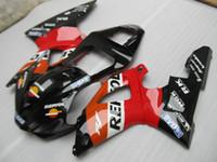 Wholesale Customize Yzf R1 - Free customize fairing kit for Yamaha YZF R1 2000 2001 red black fairings set YZFR1 00 01 OT19