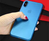 Wholesale Plastic Mobile Phone Shell - For iphone x Phone Cases Grinding and scraping 0.3mm thin and transparent 13 color whole package mobile phone protection shell