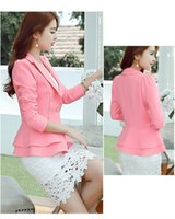 Wholesale Womens Shorts Jacket Suit - Ladies Blazers Womens Business Suit Single Button Blazer Women Suit Jacket Black  bule pink Blaser Female Plus Size Blazer Femme