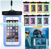 Wholesale waterproof iphone 5 case - Universal water proof case for samsung galaxy s7 s6 Iphone S Plus Cell Phone Dry Bag waterproof phone bag