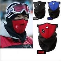 tam av külotlu kamuflaj giysileri toptan satış-Bisiklet Bisiklet Motosiklet Yarım Yüz Maskesi Kış Sıcak Açık Spor Kayak Maskesi Binmek Bisiklet Kap Maskesi Snowboard Boyun Koruma Maskeleri