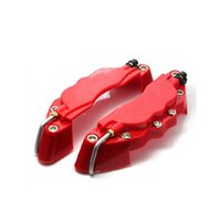 Wholesale Front Brake Kits - M size 16-17inch tyre 3D Caliper covers Fit for Brake pliers covers ABS Calipers Front Rear Disc Cover Kit