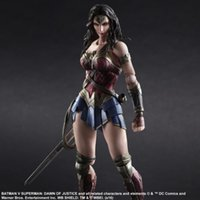 Wholesale Women Statue - Play Arts DC Comic Wonder Woman 26cm PVC Action Figure Collectible Model Statue Toys NEW WITH BOX