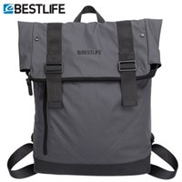 Vente en gros- BESTLIFE Mode Sac à dos Cool Soft PU Leather Homme Urban City Street Travel Bags Homme Vintage Casual Laptop Daypack Sac à dos