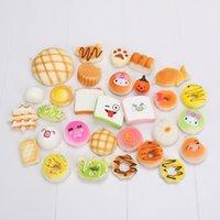 Wholesale Video Games Simulation - Cute Mini Jumbo Soft Random Squishy Phone Strap Simulation Medium Soft Bread Panda Cake Buns Phone Straps Decor Gift 30pcs sets