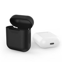 Wholesale Elegant Silicone - Cover For Apple Airpods Air Pods Silicone Case Protective Cover Pouch Anti Lost Protector Elegant Sleeve Fundas Accessories
