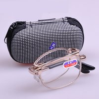 Wholesale foldable readers resale online - Foldable Readers Reading Glasses in Portable Zip Cases with Clip for Men and Women strengths available to