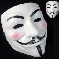Wholesale Masquerade Masks Decorations - 5000pcs V Mask Masquerade Masks For Vendetta Anonymous Valentine Ball Party Decoration Full Face Halloween Super Scary Party Mask