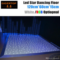 Design in Gran Bretagna 120cm x 60cm Led Dance Floor Pannello CE Rohs Dancing Floor Stage Light White Star Shinning Wireless Remote