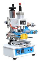 máquinas de lámina caliente al por mayor-ZY-819H-2 Auto Industrial Hot Foil Stamping Machine, logotipo de cuero / madera marcas / tarjeta de nombre Branding machine, cuero embossor 220V LLFA