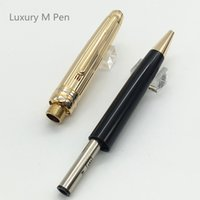 Notes black marking pen - New arrive luxury MB pen with serial number stationery school Ballpoint pens Ag925 Mark pen