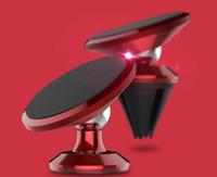 вращение магнита оптовых-Розничная торговля-Универсальный магнитный телефон автомобиля Vent GPS держатель 360 вращение Магнита держатель для iPhone Samsung Smart Phone Air outlet dock stent