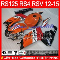 Wholesale Rs 15 - Injection For Aprilia RS4 RSV125 RS125 12 13 14 15 RS125R 12-15 RS-125 Repsol black 2NO26 RS125RR RSV 125 RS 125 2012 2013 2014 2015 Fairing