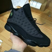 Wholesale Cats Women Shoes - 2017 Retro 13 OG Black Cat Basketball Shoes 3M Reflect For Men Sports Training Sneakers High Quality Free Shipping