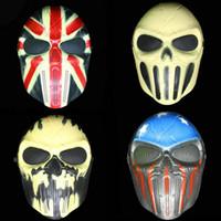 erwachsene tippspiele großhandel-M06 Chief CS Spiele Maske Halloween Skeleton Zombie Feld Ausrüstung Vollmasken 4 Typ Kunststoff Für Erwachsene Party Tragen