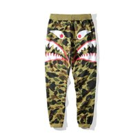 Wholesale Camouflage Cotton Pants Women - Autumn Winter New Men's Camouflage Shark Mouth Printing Casual Pants Men Women Loose Camouflage Long Pants