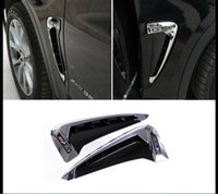 Chrome Side Body Marker Fender Air Wing Vent Trim M Cover per BMW X5 2014-2017