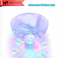 Wholesale Baby Led Lamp - Wholesale- 5 lighting Modes Swimming Pool Waterproof Durable Flash Floating LED Lamp Bath Decorative Light Colorful Baby Pool Spa Tub Bulb