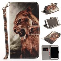 TPU case dog house - New Animal tiger dog Leather Case for iphone plus S S Stand Flip Wallet Case Cover Bag Housing Cover
