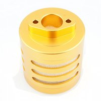 Wholesale Hpi Baja 5t Car - RC Aluminum Air Filter Gold with Sponge For RC HPI 1:5 Baja 5B 5T KM Rovan
