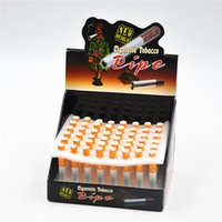 Wholesale Smoking Accessories Case - One Hitter Pipes Ceramic Metal Cigarette One Hitter Ceramic Pipes Smoking Accessories jeweled Dugoutone hitters Display Box Package Case