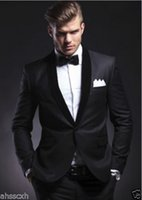 Wholesale Mens Fashion Suits Silver Grey - Sell like hot cakes! 2017 Hot Fashion Mens Business Suits Wedding Tuxedos Groom Tailcoats Formal Blazers