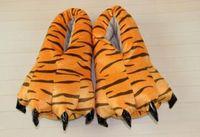 Wholesale Dinosaurs Shoes - Winter coral super soft pork dinosaur pikas pawls shoes bursts thickening non - slip plush Cartoon cotton slippers wholesale