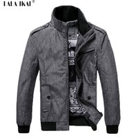 Wholesale Light Collar Xs - Wholesale- Thin Light Mens Windbreaker Jacket Brand Soft Spring Windrunner Stand Collar Men Casual Jackets And Coats 2016 SMC0117-5