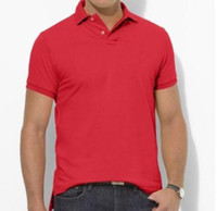 Wholesale Wholesale Men Polo T Shirts - PLus size S~5XL Sales Golf polo Men's T-shirt multi color slim polo shirt lapel short-sleeve Tees mix order